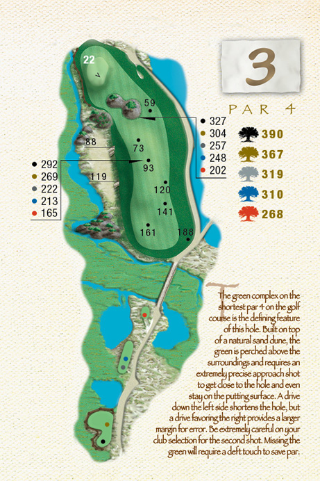 Map of Hole 3 of The Ocean Course
