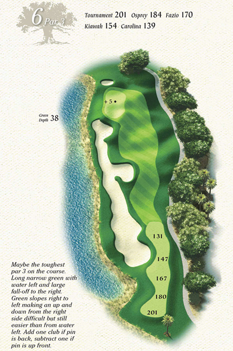 Map of Hole 6 of Osprey Point Golf Course