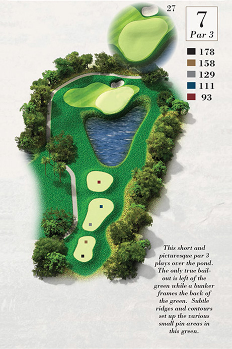 Map of Hole 7 of Turtle Point Golf Course