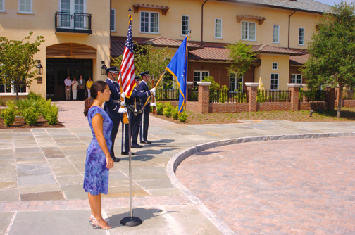 Air Force Honor Guard and Emily McClure, national anthem singer.